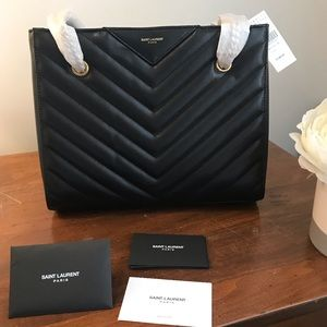 YSL Tribeca Double Chain Shoulder Bag | NWT